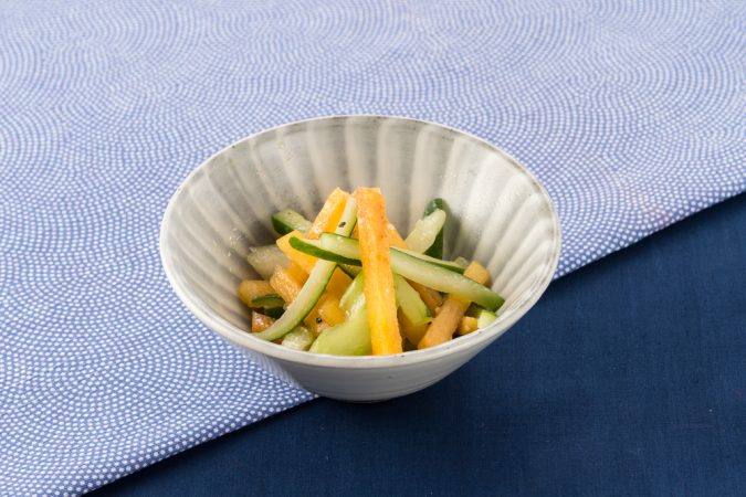 柿のシャキシャキサラダ