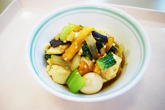 豆腐と柿のオイスターソース煮